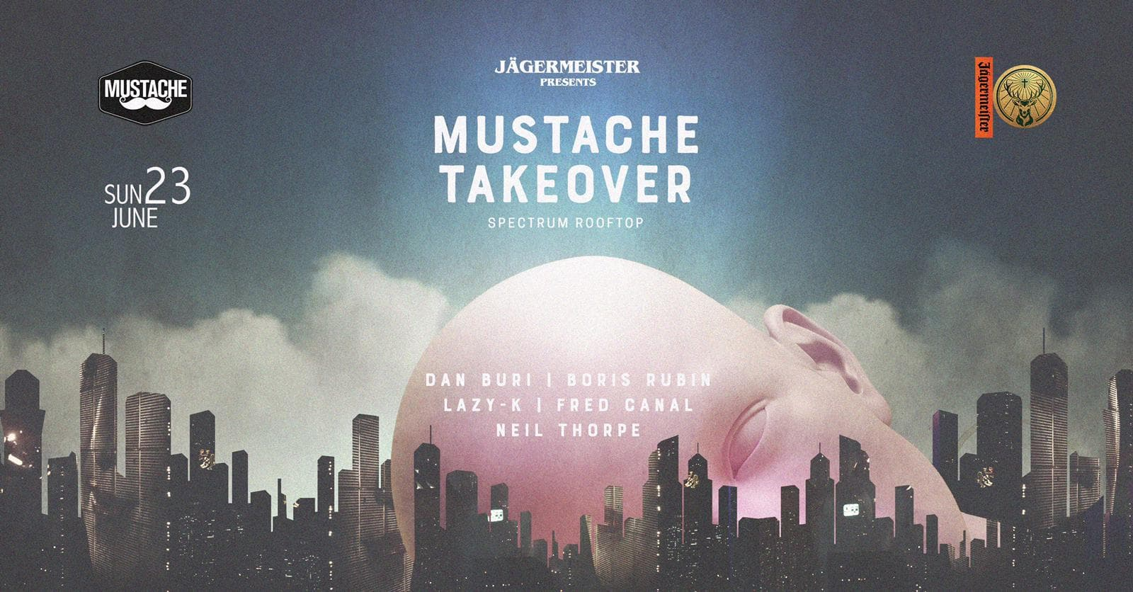 Mustache Takeover at Spectrum. Music event.