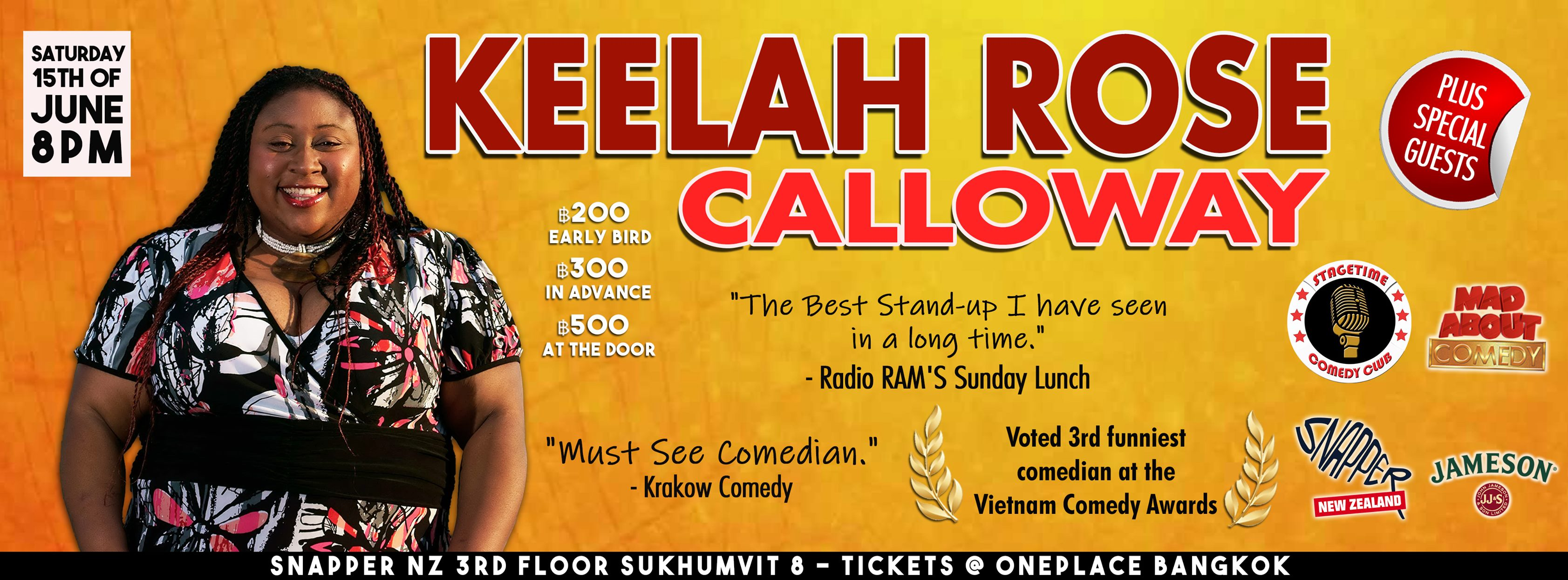 Keelah Rose Calloway. Event Comedy