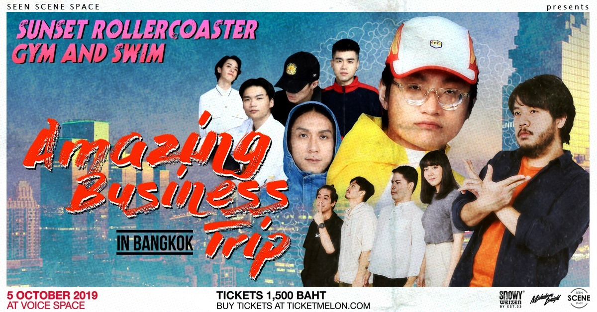 Amazing Business Trip Sunset Rollercoaster x Gym and Swim 5 October at Voice Space Bangkok