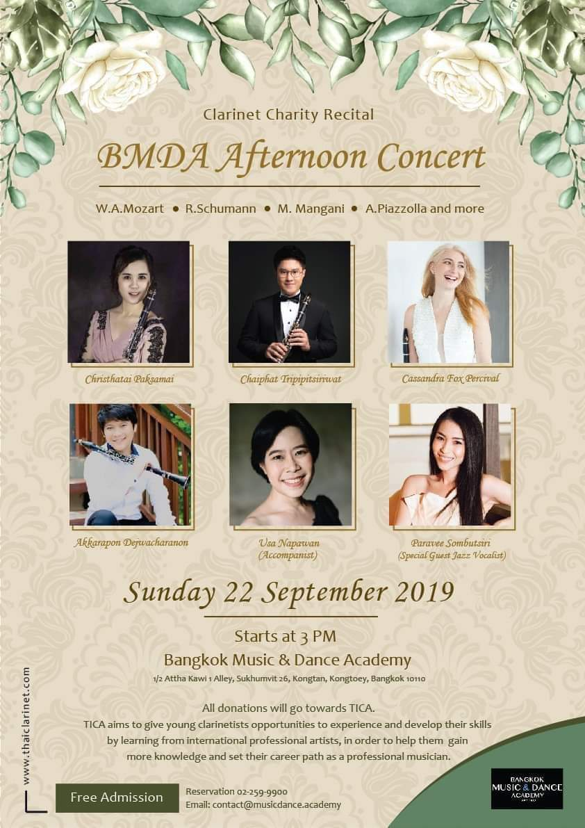BMDA concert sunday 22 September