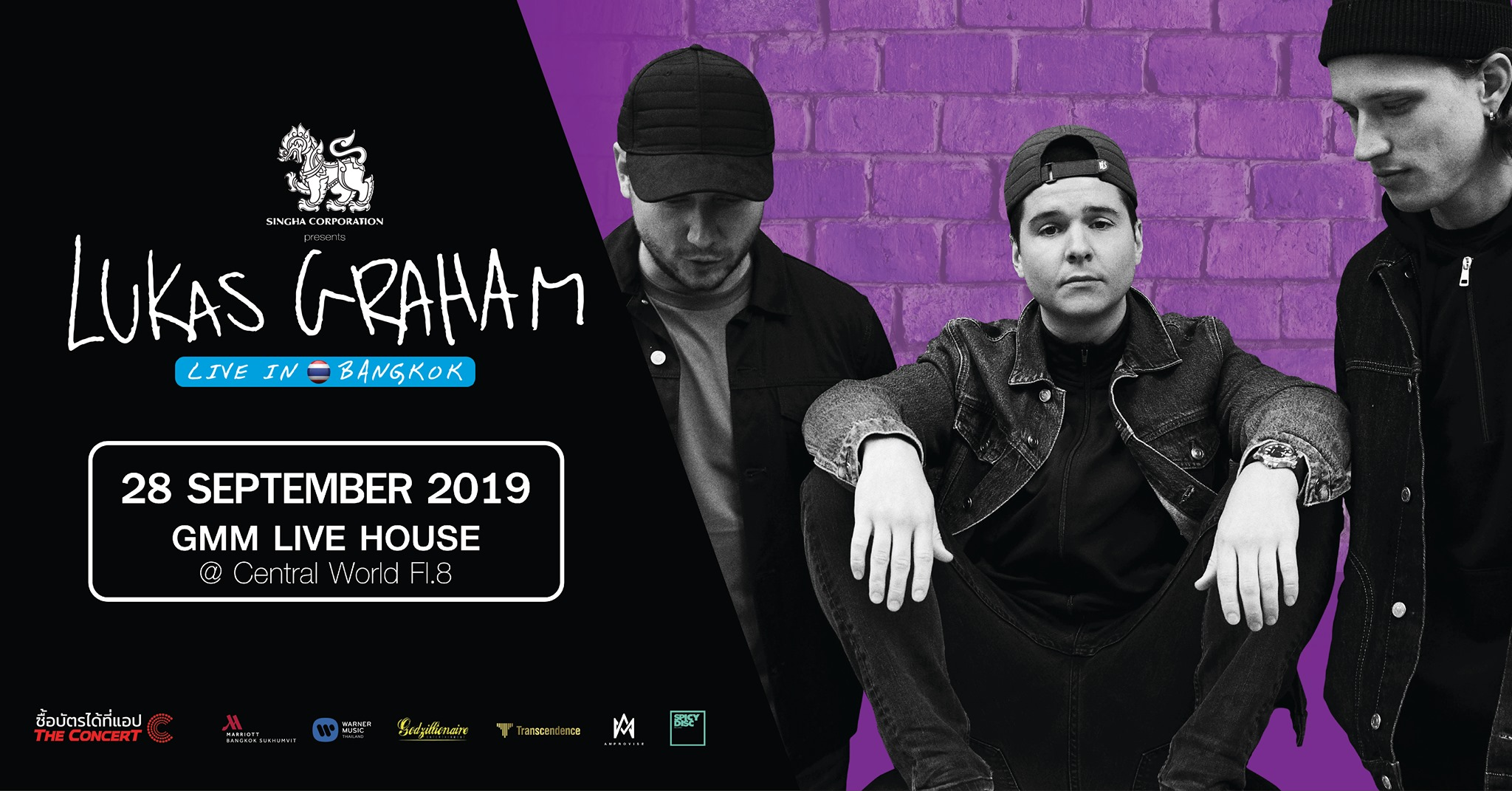 Lukas Graham Live in Bangkok Gmm Live House, 28th September