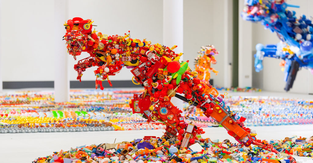 Jurassic Plastic Art Exhibition Hiroshi Fuji sunday 22 september
